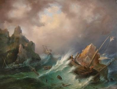 """Petrus van Schendel, """"Naufrage"""""""
