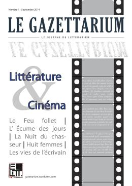 Couverture_Gazettarium_papier_#1_Litterature_&_Cinema